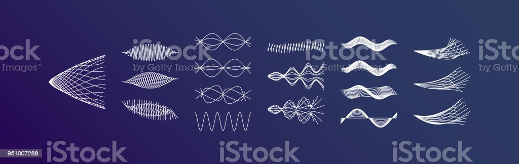 Sound waves set. Dynamic effect. Vector illustration. royalty-free sound waves set dynamic effect vector illustration stock illustration - download image now