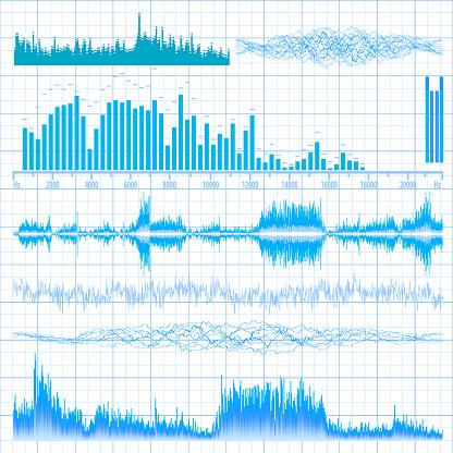 Sound waves set. Music background. EPS 10
