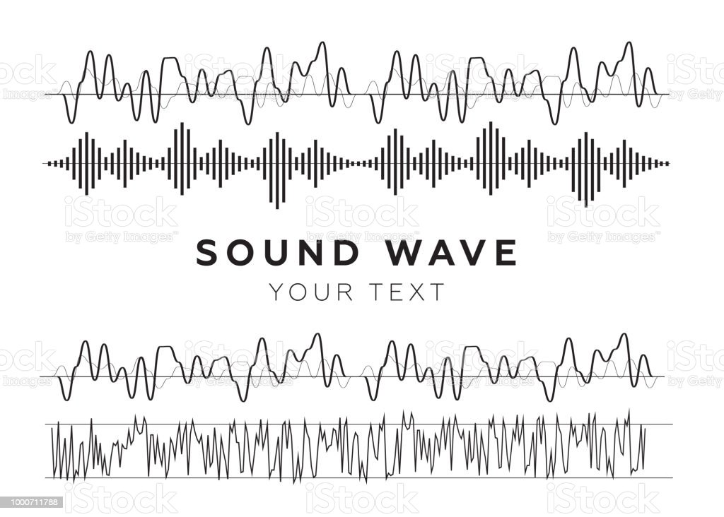 Sound Waves Sign And Symbol In Flat Style Stock Vector Art More