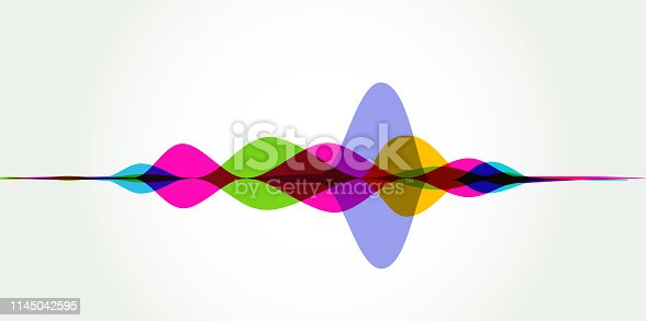 Colourful silhouettes of Sound Waves