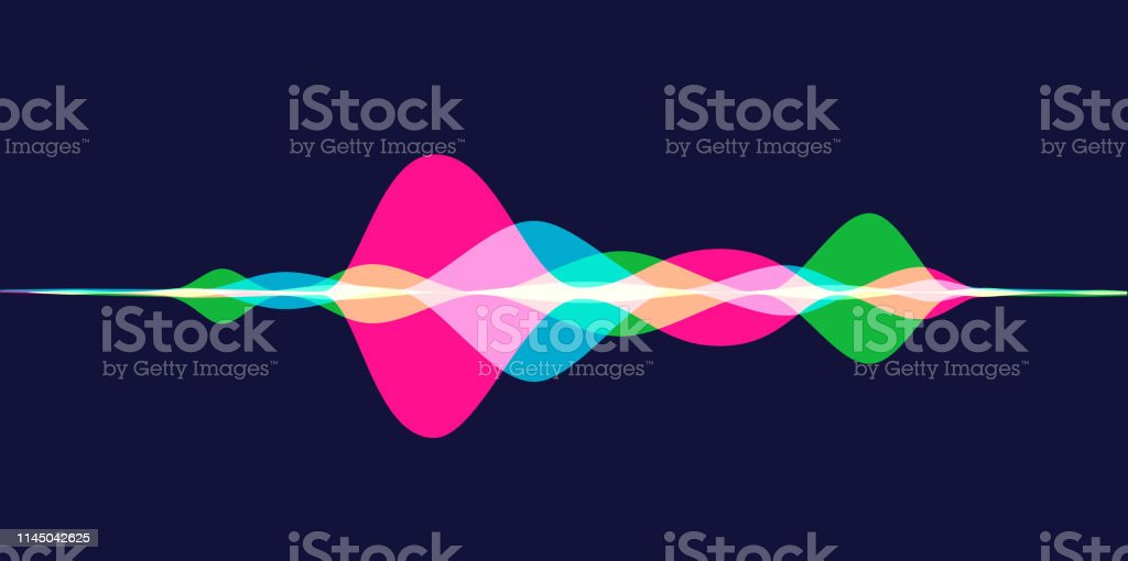 Sound Waves Colourful silhouettes of Sound Waves Abstract stock vector