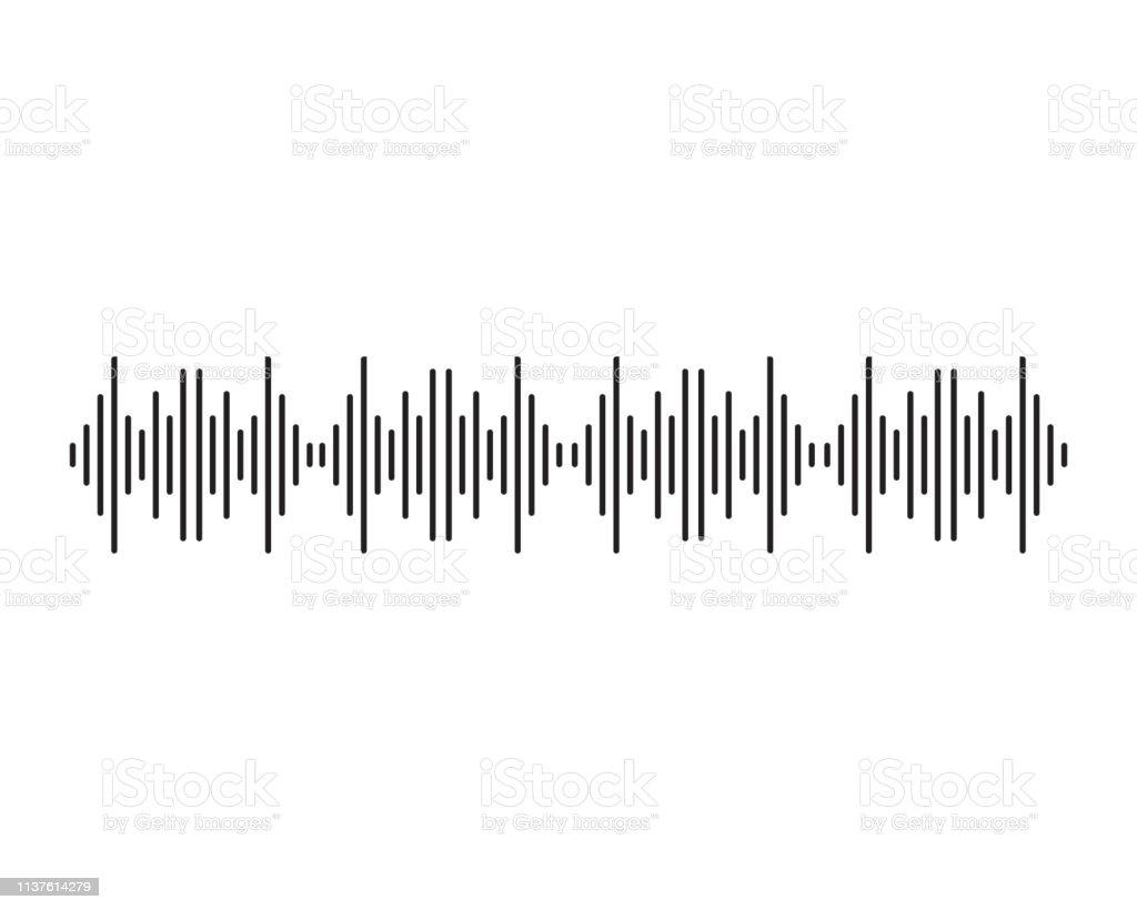 Sound Waves Vector Illustration Stock Illustration