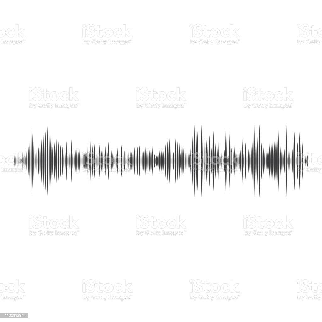 Sound Waves Vector Illustration Stock Illustration - Download Image Now