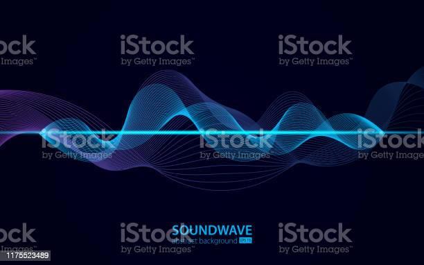 サウンドウェーブベクトル抽象背景音楽電波オーディオデジタル録音振動パルス音楽サウンドトラックのサイン - 3Dのベクターアート素材や画像を多数ご用意