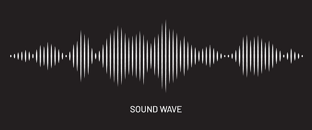 Sound wave digital art background. Music and radio soundwave pulse concept. Audio track wave graph of frequency and spectrum