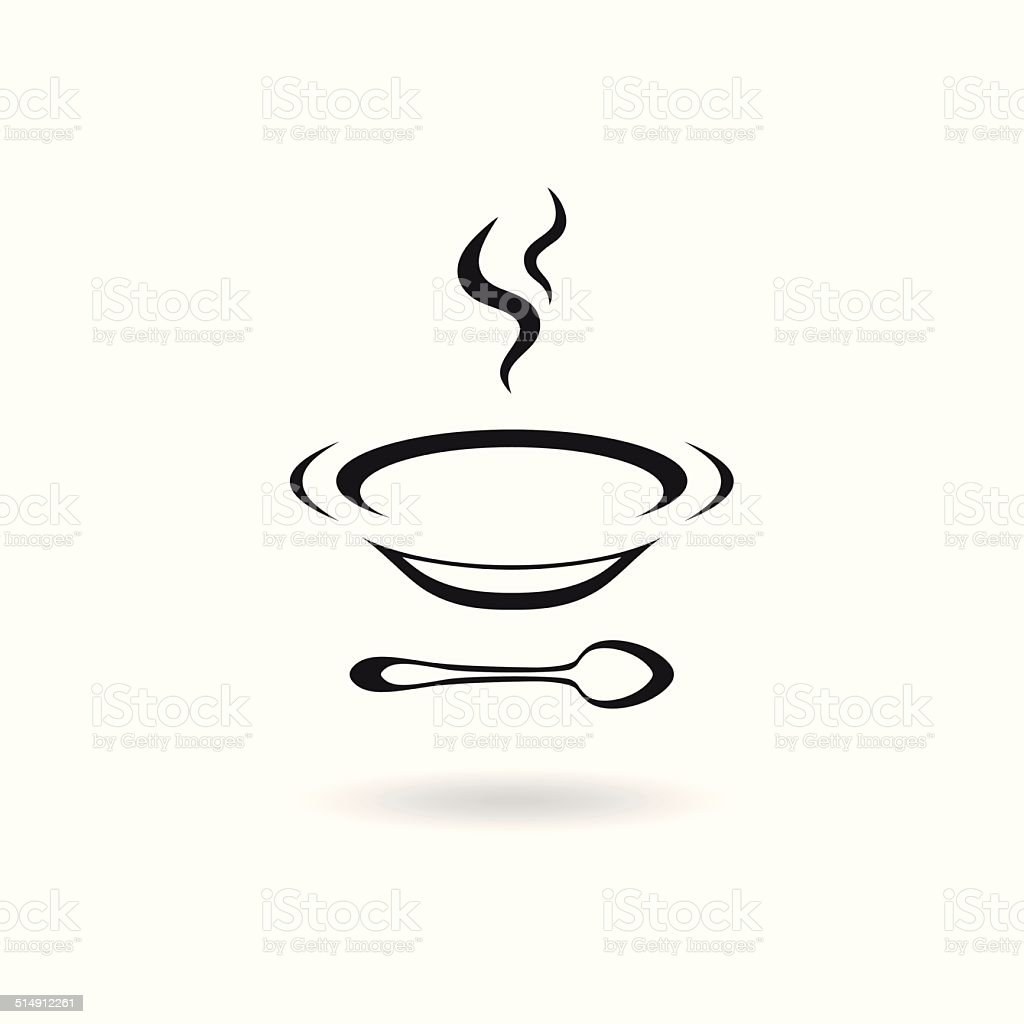 Soup icon vector art illustration