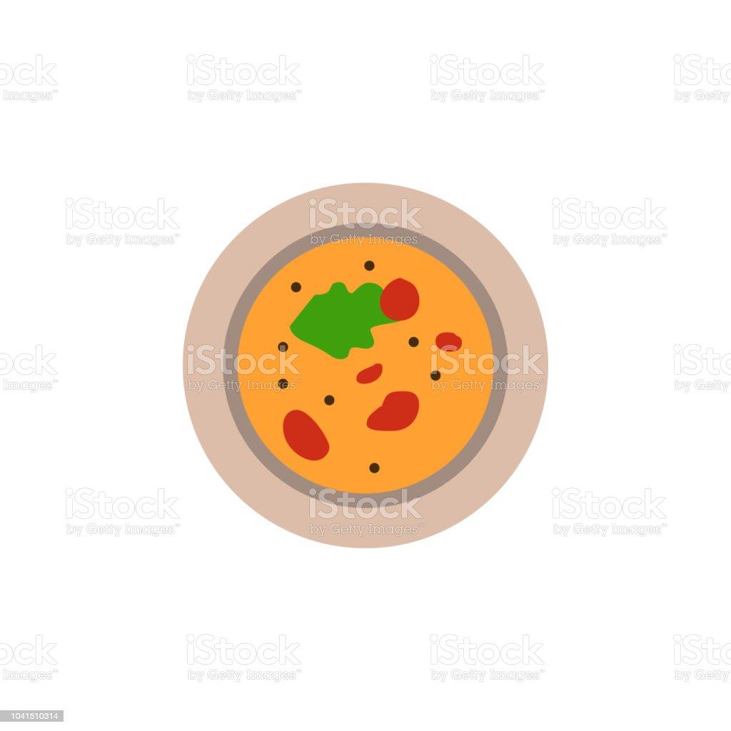 Die Suppe In Einen Teller Farbige Abbildung Element Der Farbigen