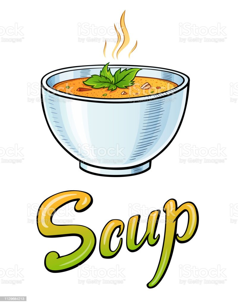 Soup lettering and illustration