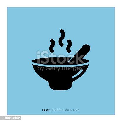 Soup Monochrome Icon