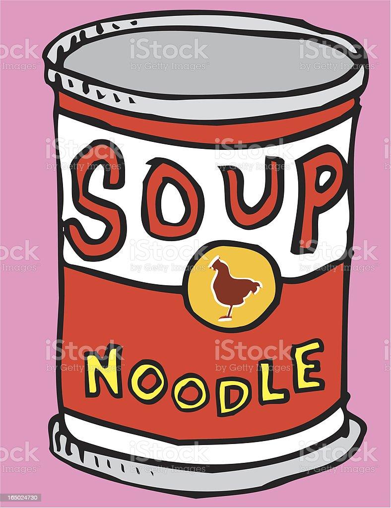 Soup: Noodle (illustration) royalty-free stock vector art