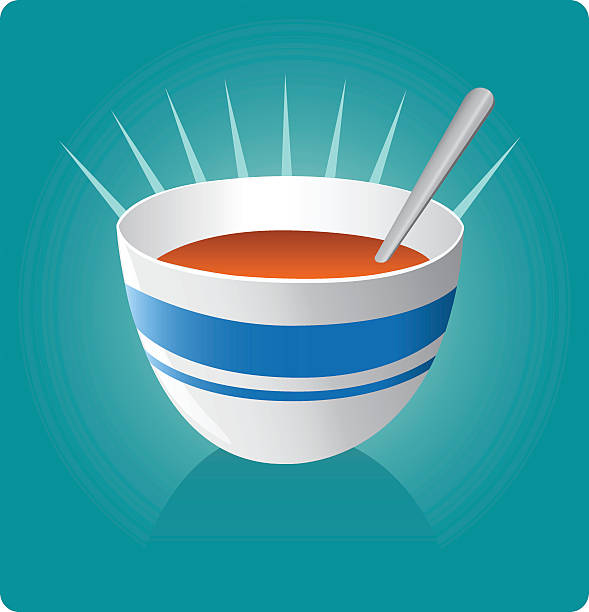 stockillustraties, clipart, cartoons en iconen met soup [vector] - groentesoep