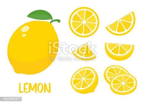 istock Sour yellow lemons. High vitamin C lemons are cut into slices for summer lemonade. 1322652377