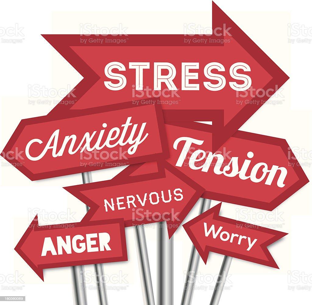 Quelle von stress Pfeile – Vektorgrafik