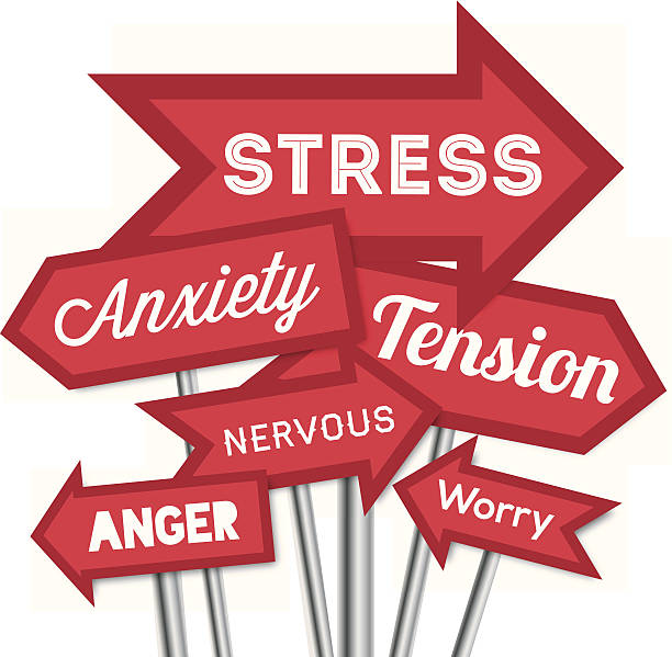 source of stress arrows - anxiety stock illustrations, clip art, cartoons, & icons