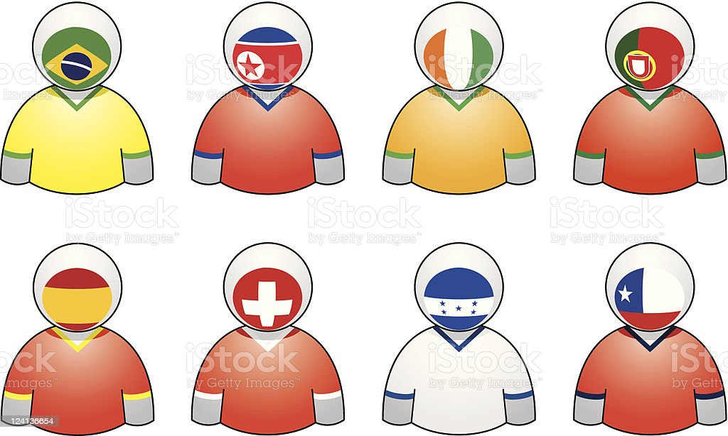 South Africa 2010 Teams' buddies royalty-free stock vector art