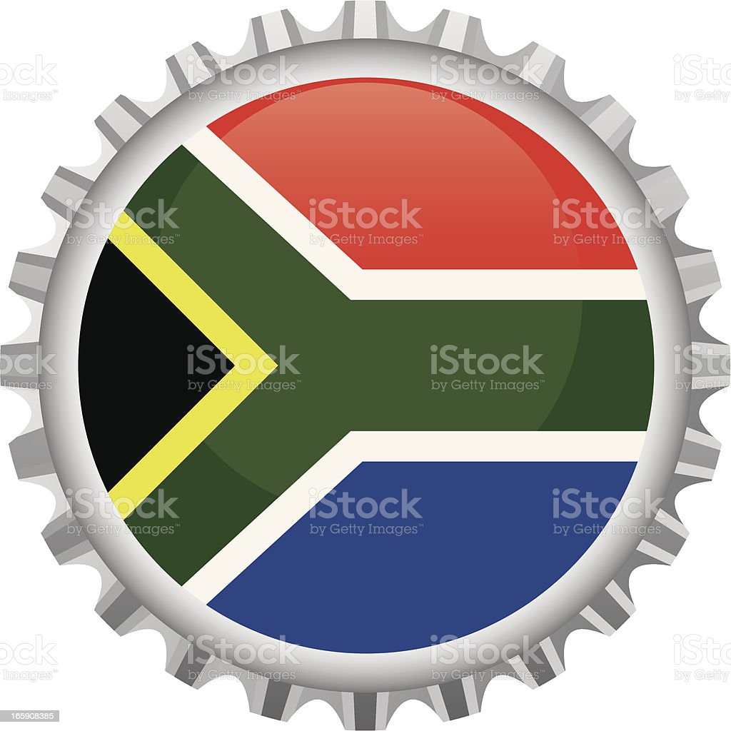 South Africa bottle top royalty-free stock vector art