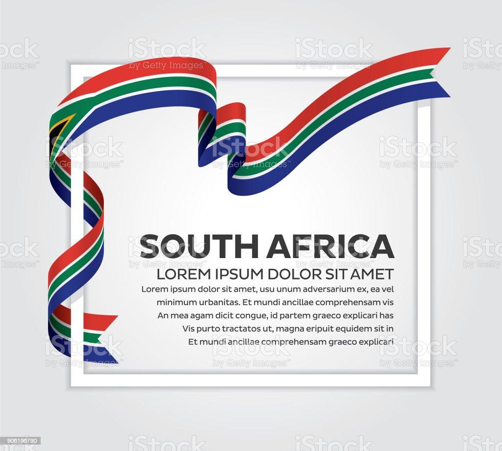 South Africa flag background vector art illustration