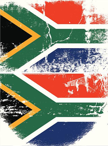 ilustrações, clipart, desenhos animados e ícones de bandeira de grunge áfrica do sul - texturas desgastadas