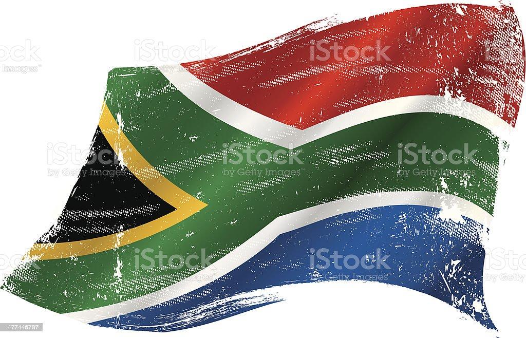 South Africa grunge flag vector art illustration
