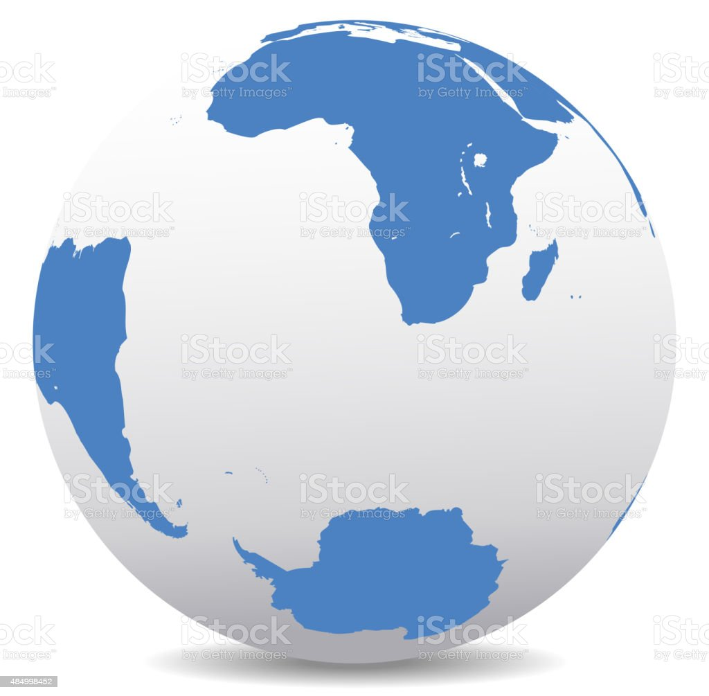 South Africa Madagascar South America And Antarctica South Pole ...