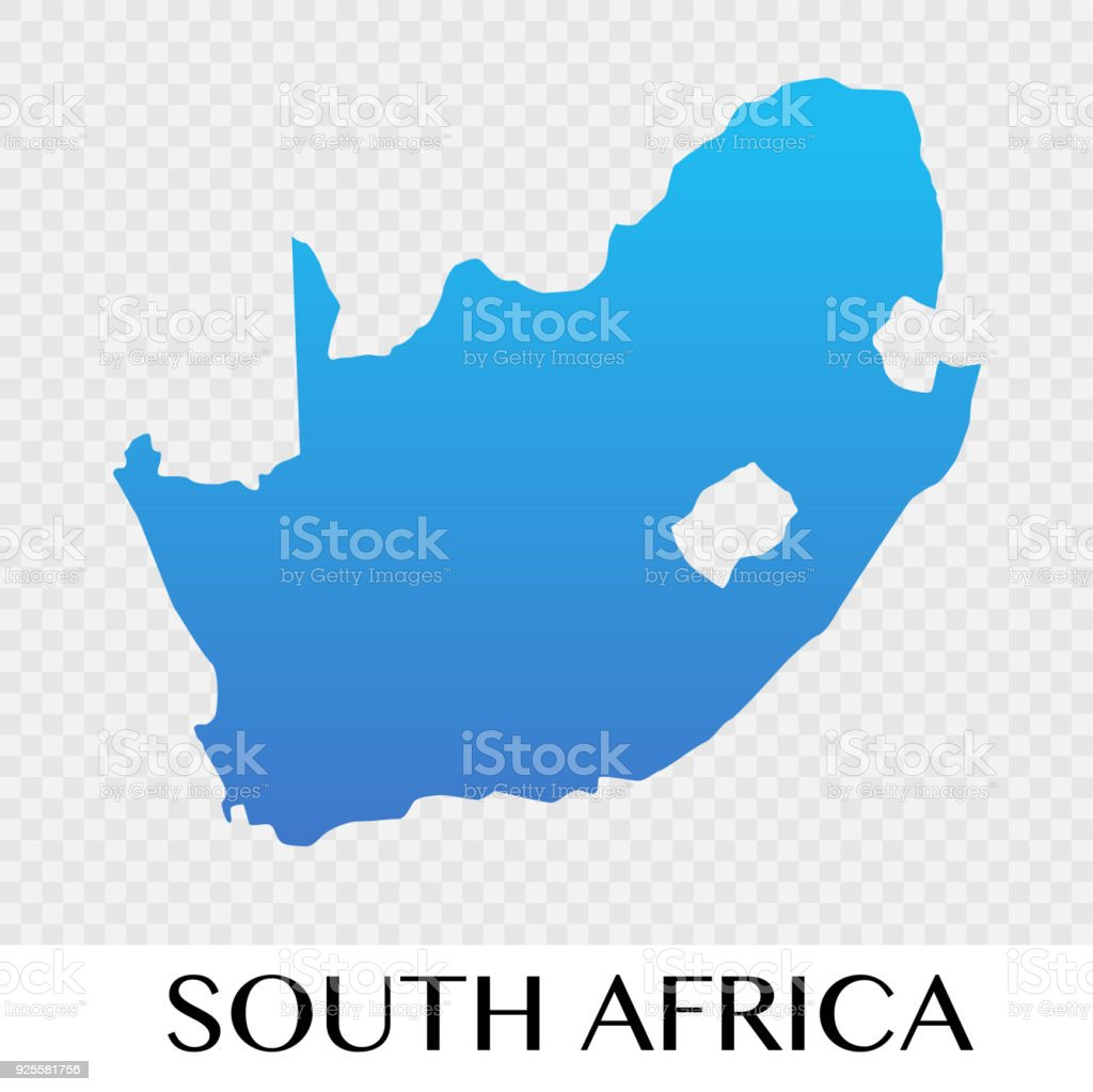 South Africa Map In Africa Continent Illustration Design Stock