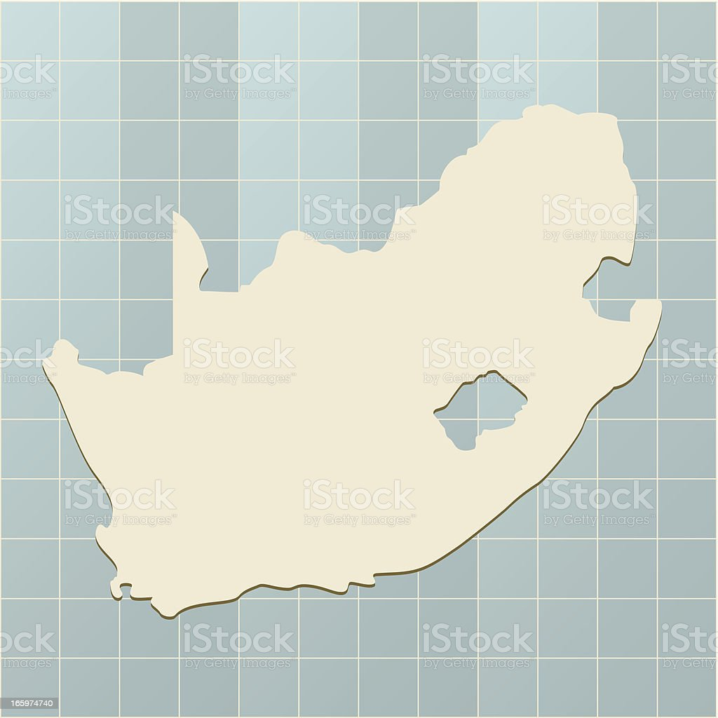 South Africa map on grid royalty-free stock vector art