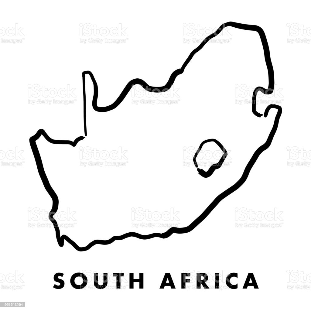 Map Of Africa Outline.South Africa Map Outline Stock Illustration Download Image Now