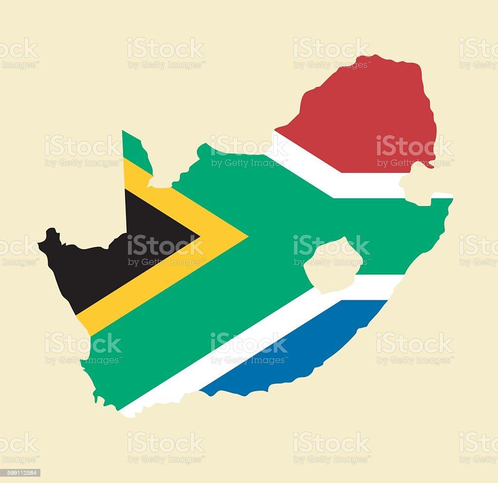 South Africa map vector art illustration