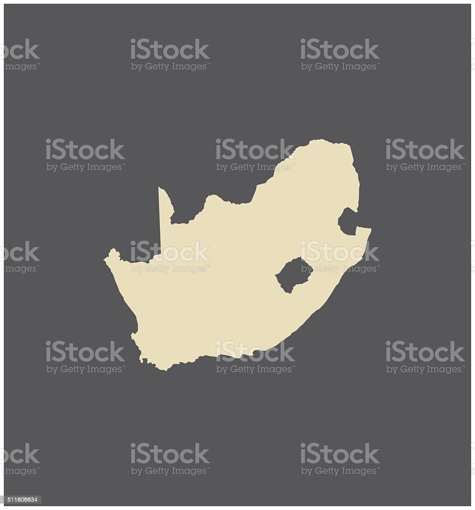 South Africa map vector outline vector art illustration