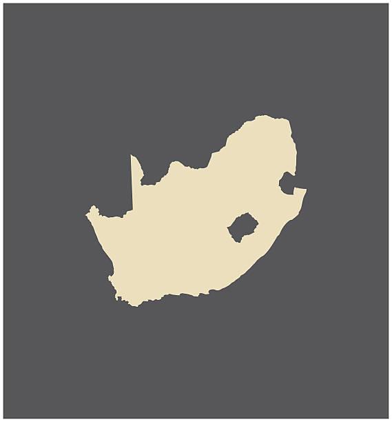 bildbanksillustrationer, clip art samt tecknat material och ikoner med south africa map vector outline - south africa