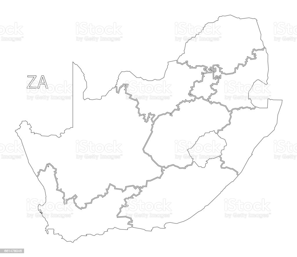 Royalty Free South Africa Map Clip Art Vector Images