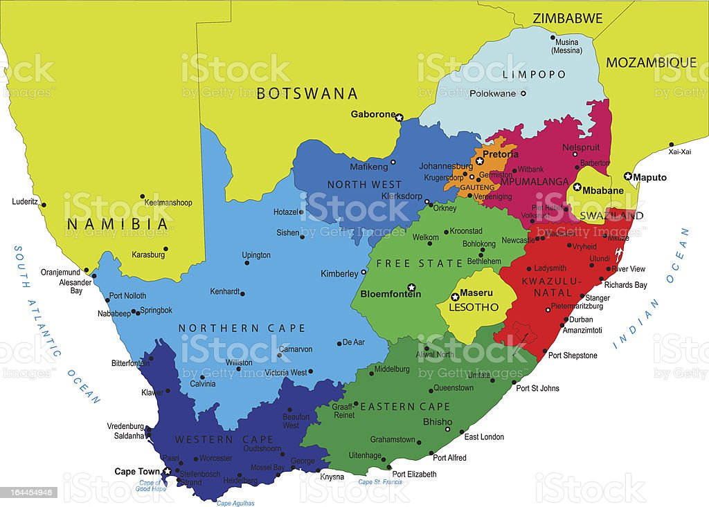 Cartina South Africa.South Africa Political Map Stock Illustration Download Image Now