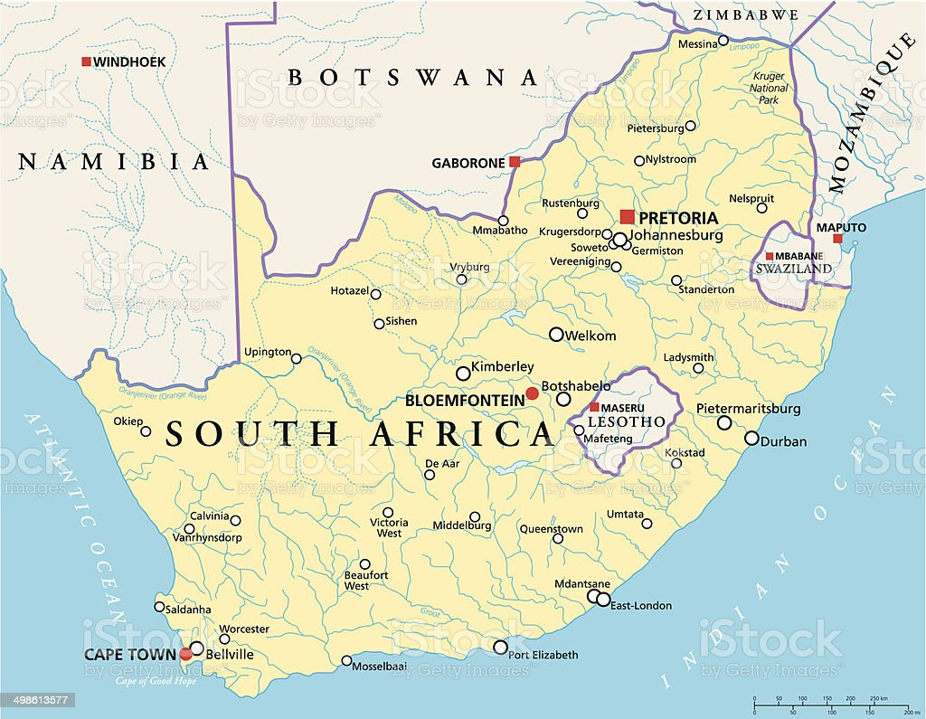 South Africa Map Clip Art Vector Images Illustrations iStock