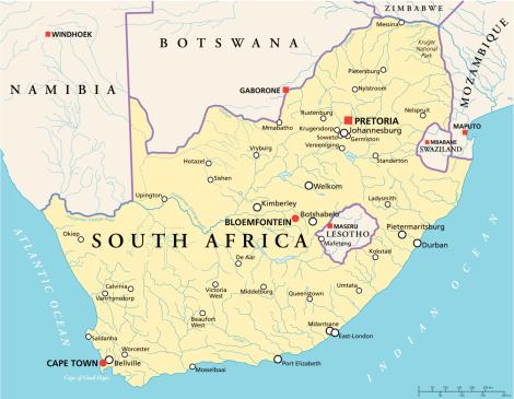 Cartina Africa Sud.Sud Africa Mappa Politica Immagini Vettoriali Stock E Altre Immagini Di Africa Istock