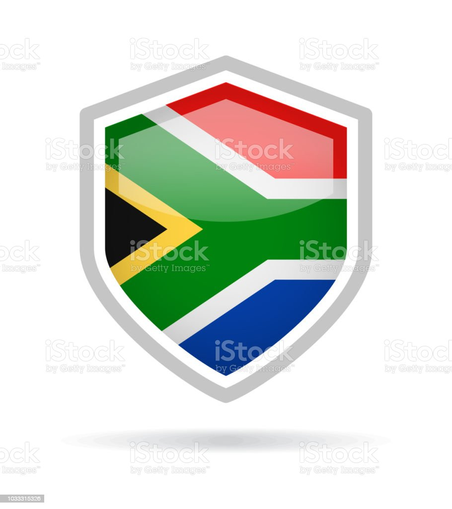 South Africa Shield Flag Vector Glossy Icon Stock Vector Art & More