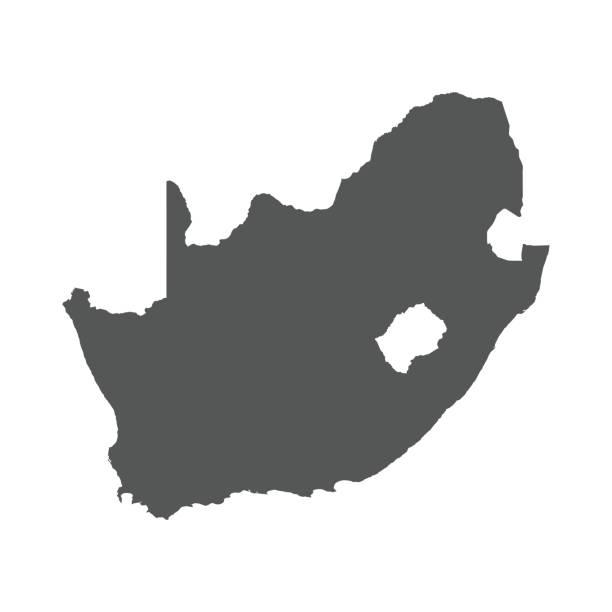 bildbanksillustrationer, clip art samt tecknat material och ikoner med sydafrika vektor karta. - south africa