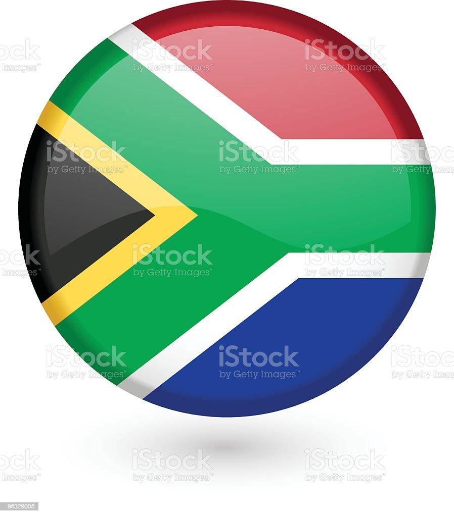 South African flag vector button royalty-free stock vector art