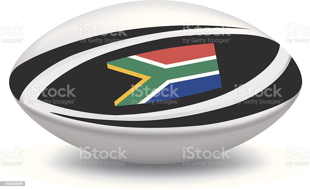 South African Rugby Ball royalty-free stock vector art