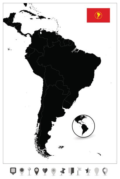 Top Latin America Map Clip Art, Vector Graphics and Illustrations ...