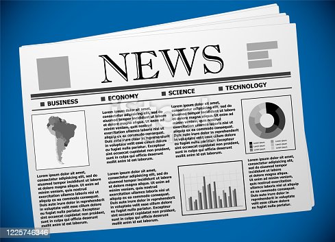 South America business and economy on newspaper.