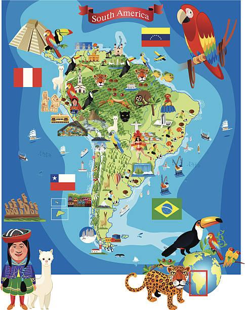 ilustraciones, imágenes clip art, dibujos animados e iconos de stock de dibujo mapa de américa del sur - bandera de ecuador