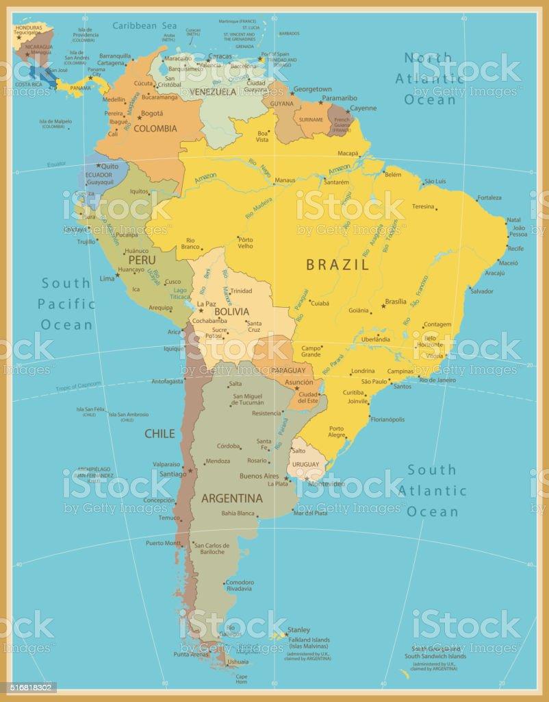 Cartina Muta Fisica Americhe