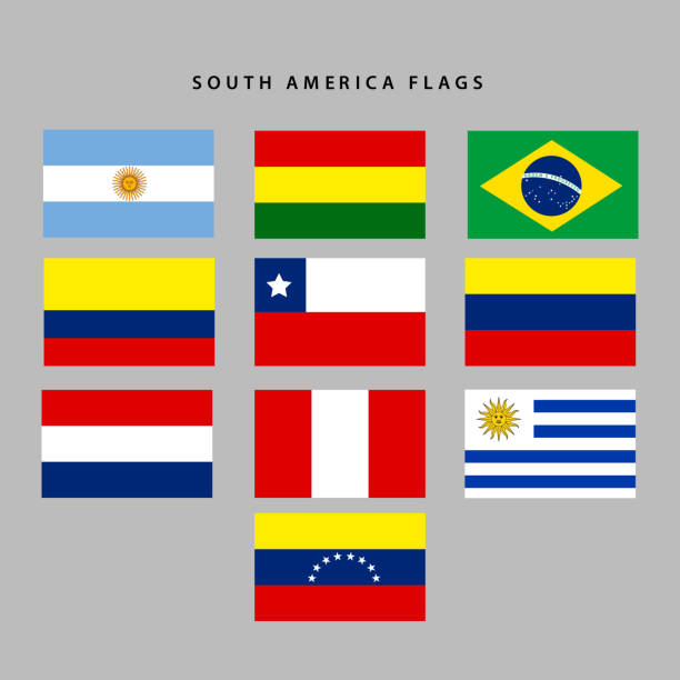 south america flags - argentina flag stock illustrations, clip art, cartoons, & icons