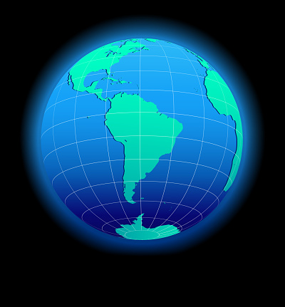South America Global World in Space