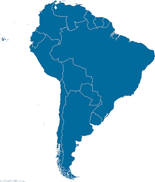 south america map outline - south america maps stock illustrations, clip art, cartoons, & icons