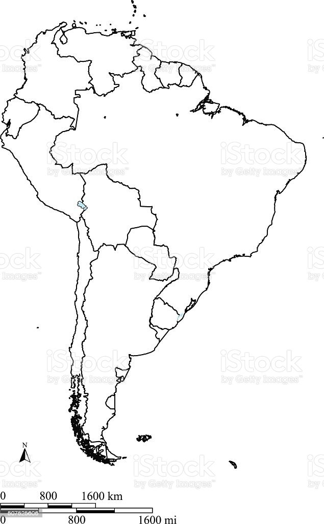 South america map outline vector with countries borders and scales south america map outline vector with countries borders and scales royalty free south america map gumiabroncs Image collections