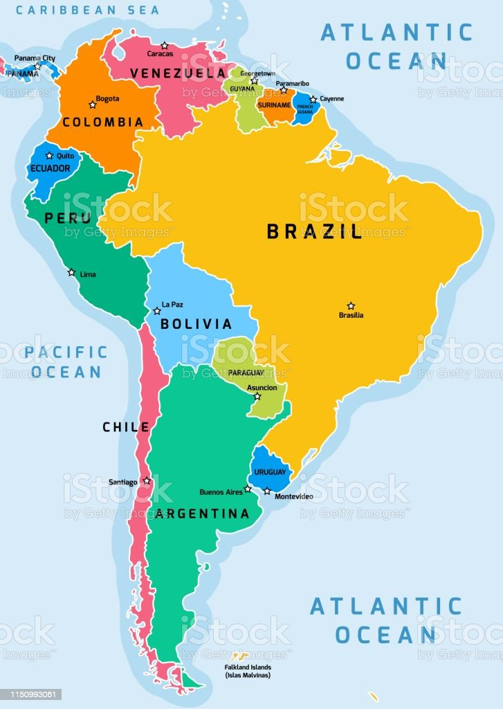 South America Map Stock Illustration - Download Image Now ...