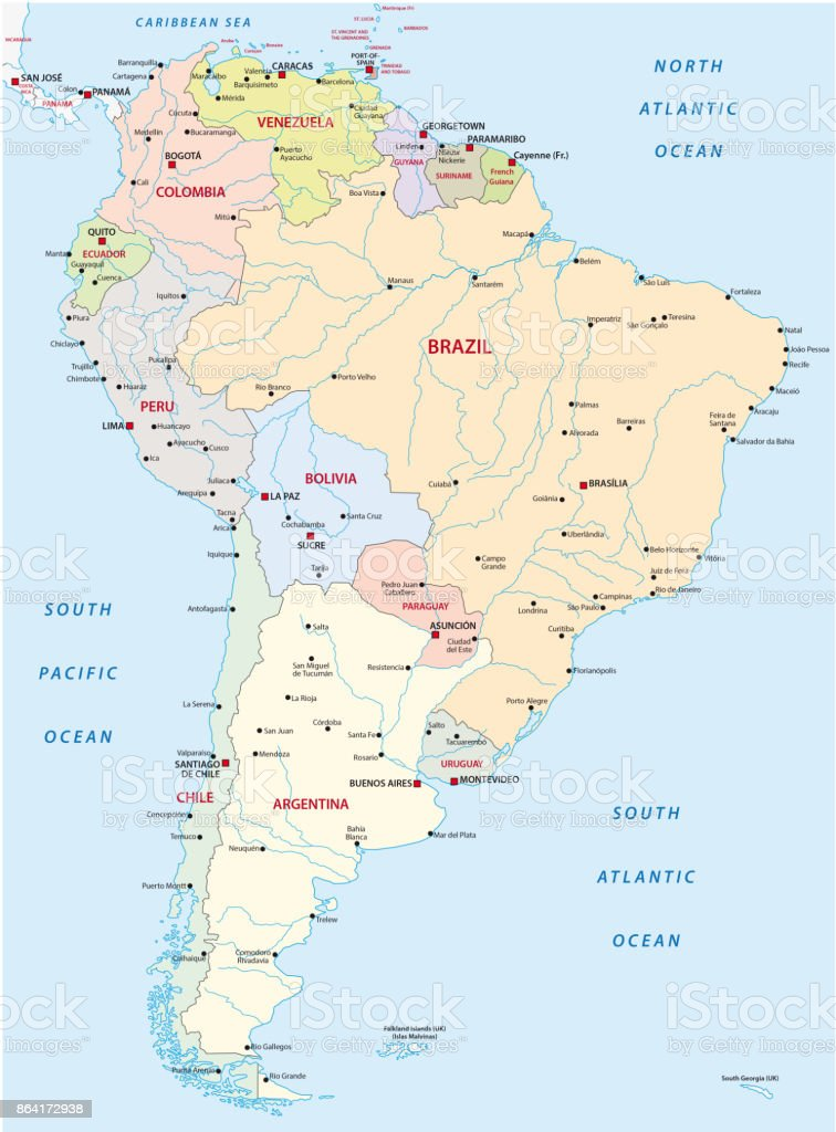 south america map royalty-free south america map stock vector art & more images of argentina