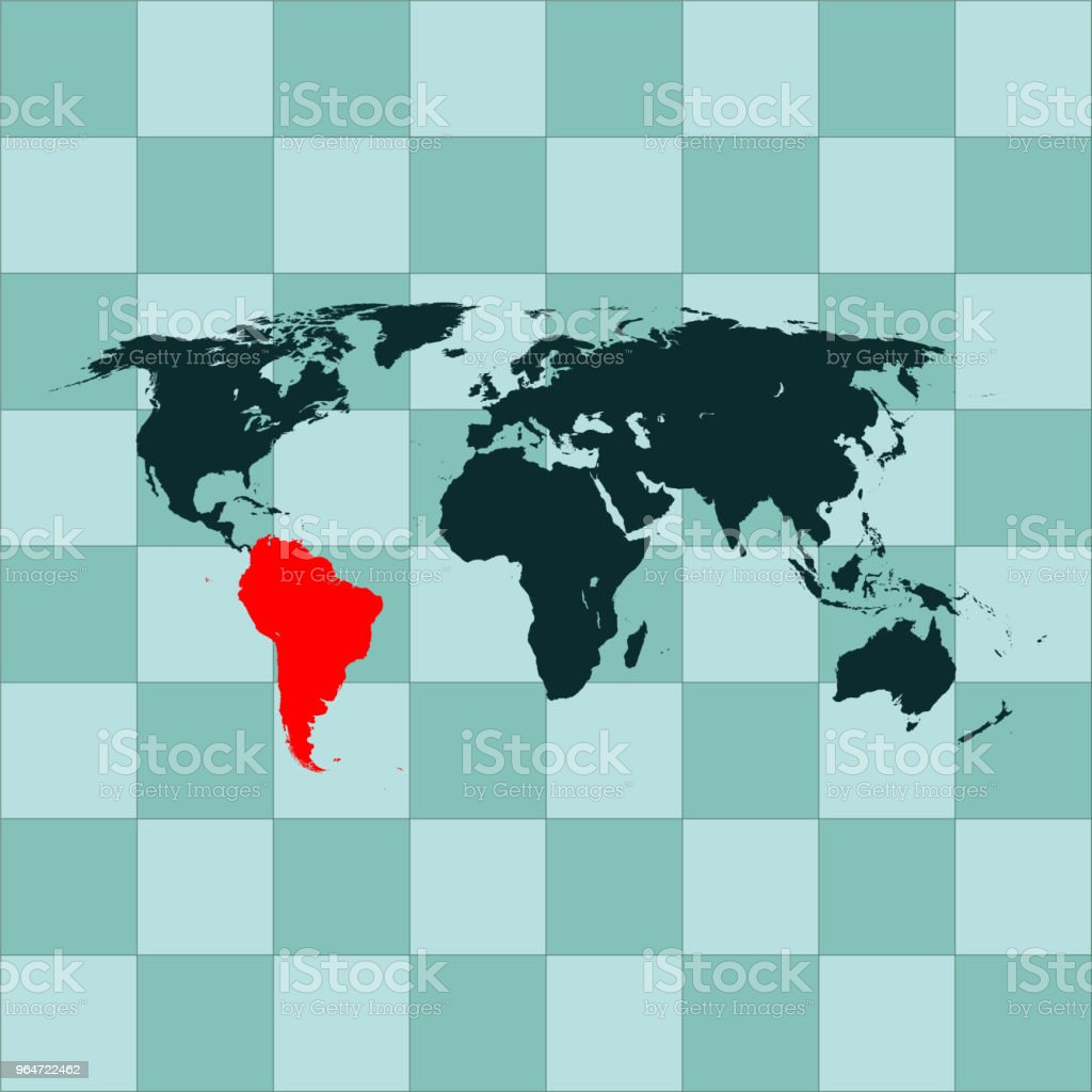 South America map royalty-free south america map stock vector art & more images of cartography