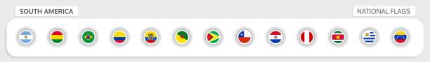 süd-amerika nationalflaggen - flagge ecuador stock-grafiken, -clipart, -cartoons und -symbole